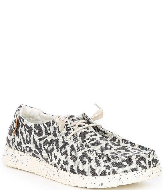 HEY DUDE Women's Shoes Hey Dude Women's Wendy Woven Cheetah Print Slip-Ons || David's Clothing
