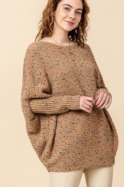 HYFVE INC. Women's Cardigans CAMEL / S Dolman Sleeve Sweater || David's Clothing FL20H247