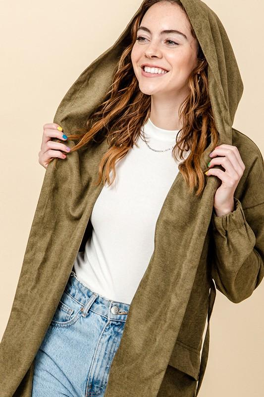 HYFVE INC. Women's Outerwear Shawl Collar Cargo Jacket || David's Clothing