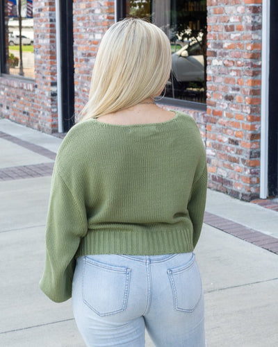 HYFVE INC. Women's Sweater Balloon Sleeve Crop Sweater || David's Clothing