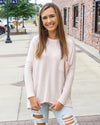 HYFVE INC. Women's Top BLUSH / S Oversized Waffle Top With Pocket Detail || David's Clothing HF21C468