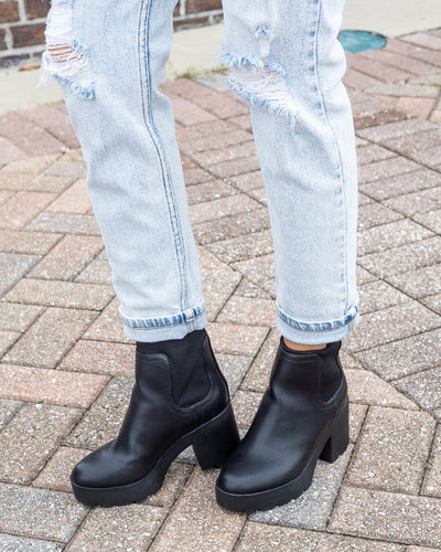 J P ORIGINAL Women's Shoes Slip On Combat Style Bootie || David's Clothing