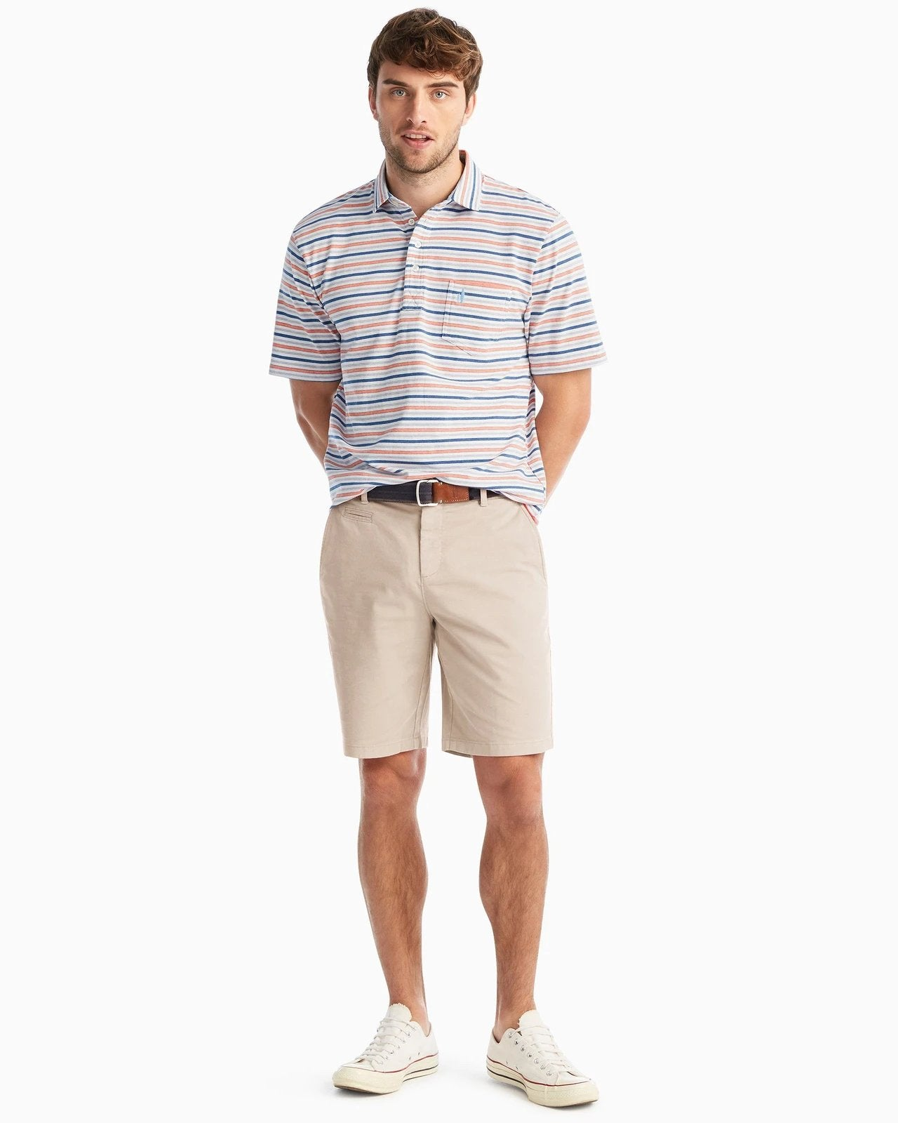 JOHNNIE O Men's Shorts STONE / 32 Johnnie-O Neal Stretch Twill Shorts || David's Clothing JMSH1400S
