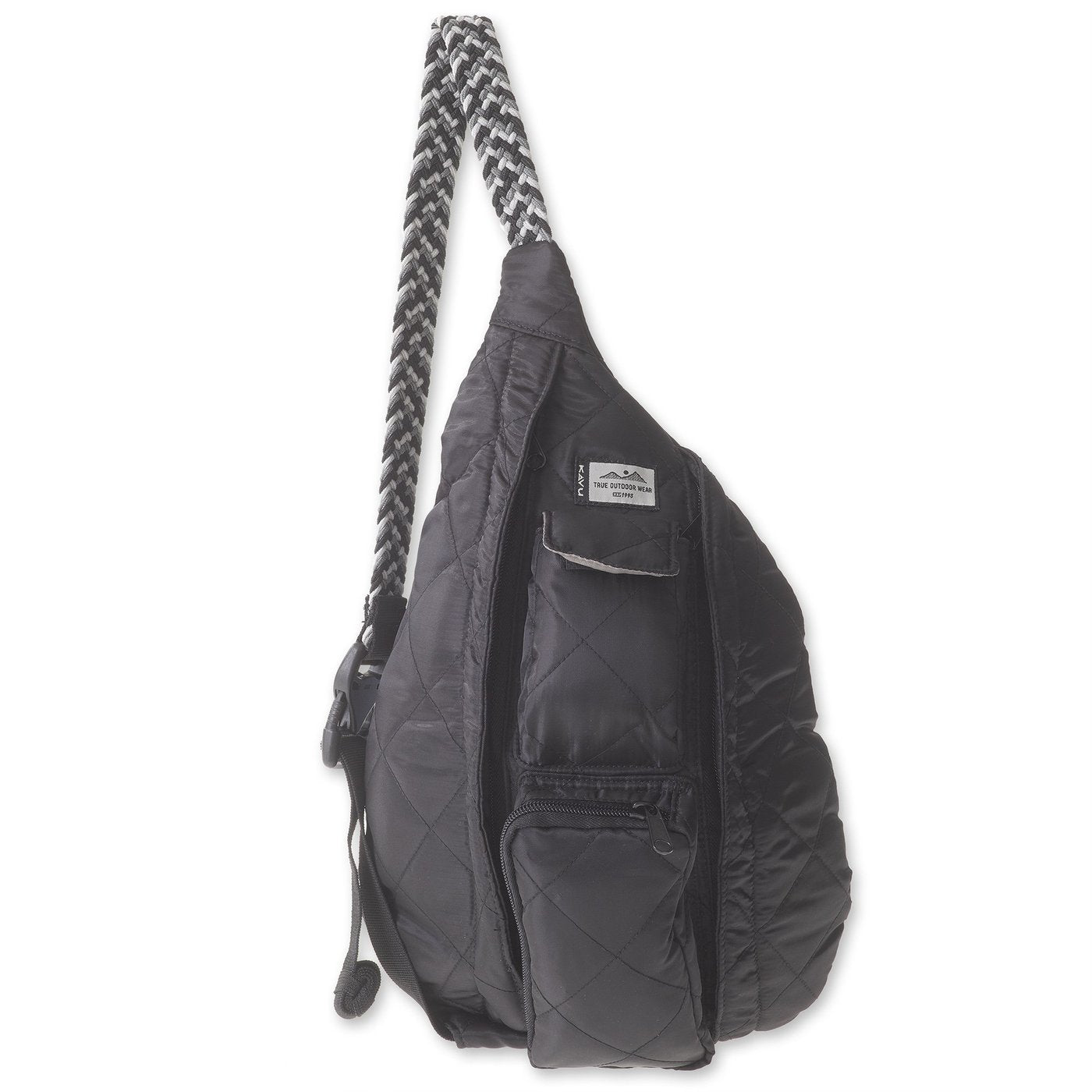 KAVU Back Packs BLACK KAVU Mini Rope Puff - Black || David's Clothing 921620