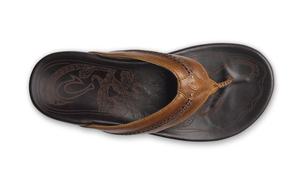 OLUKAI Men's Sandals Olukai Mea Ola Men's Leather Beach Sandals || David's Clothing