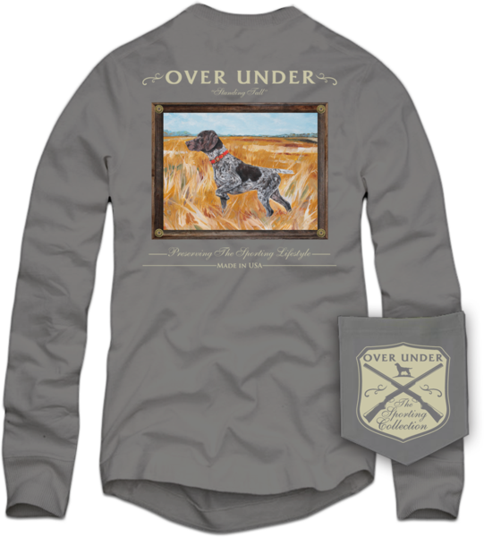 OVER UNDER CLOTHING Men's Tees Over Under L/S Standing Tall T-Shirt Hurricane || David's Clothing
