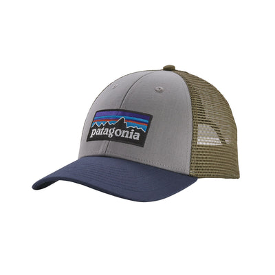 PATAGONIA Men's Hats one size / Drifter Grey w/Dolomite Blue Patagonia Men's P-6 LoPro Trucker Hat || David's Clothing 38016