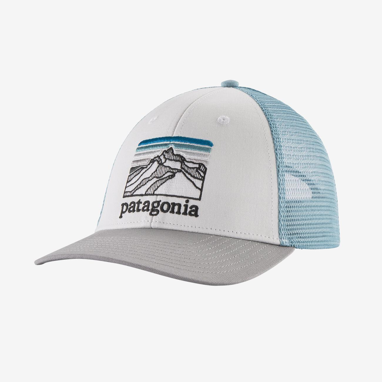 PATAGONIA Men's Hats WHITE Patagonia P-6 Logo LoPro Trucker Hat || David's Clothing 38285WHI