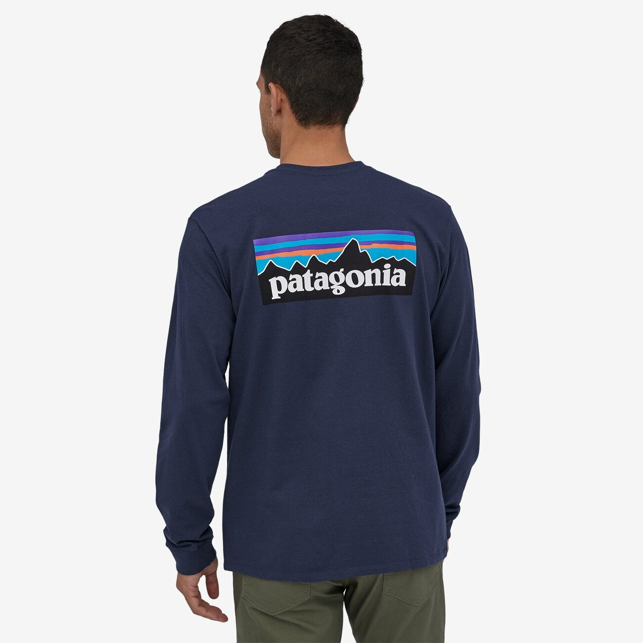 PATAGONIA Men's Tees Patagonia Men's Long-Sleeved P-6 Logo Responsibili-Tee || David's Clothing