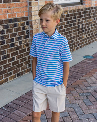 PETER MILLAR Kid's Tops Peter Millar Youth Center Performance Polo || David's Clothing