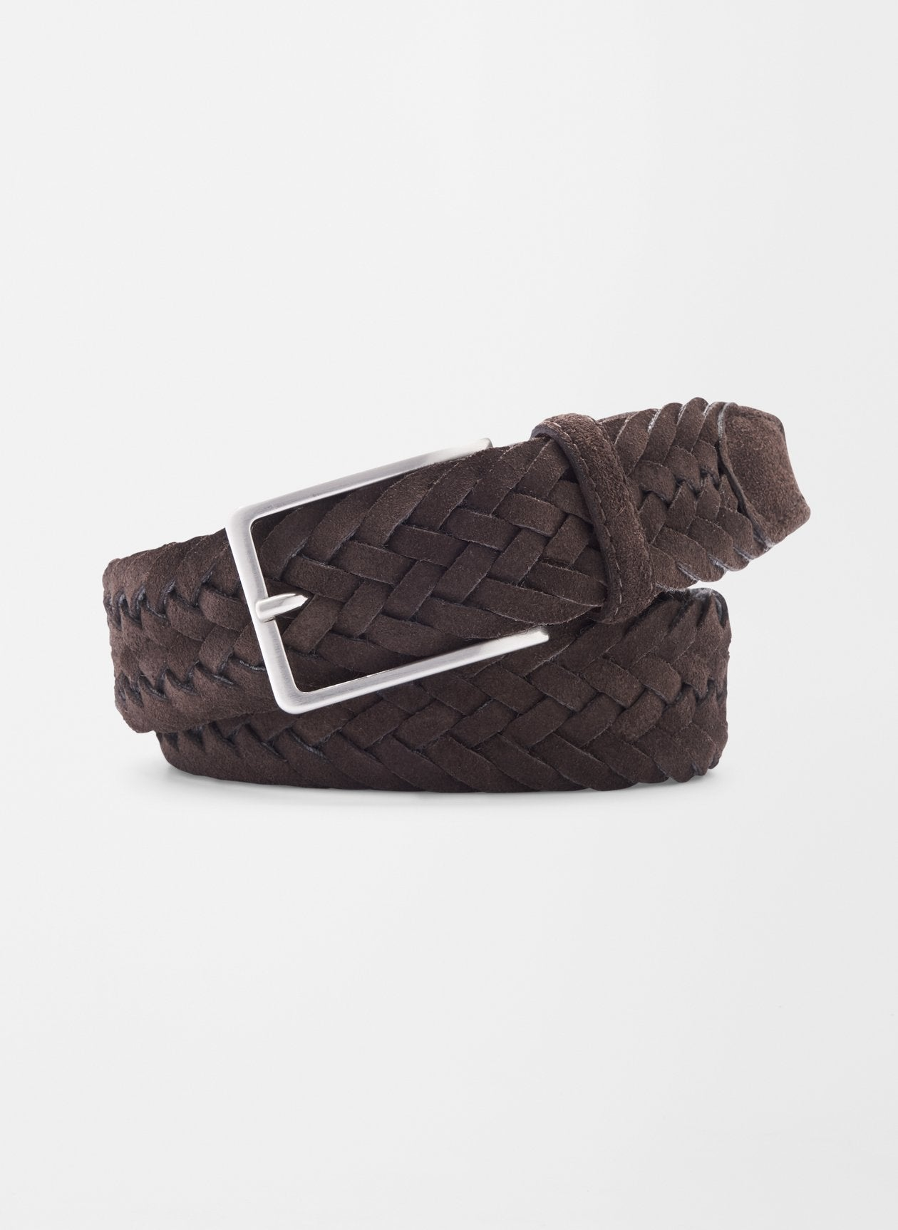 PETER MILLAR Men's Belts Peter Millar Blue Ridge Leather And Wool Braided Belt || David's