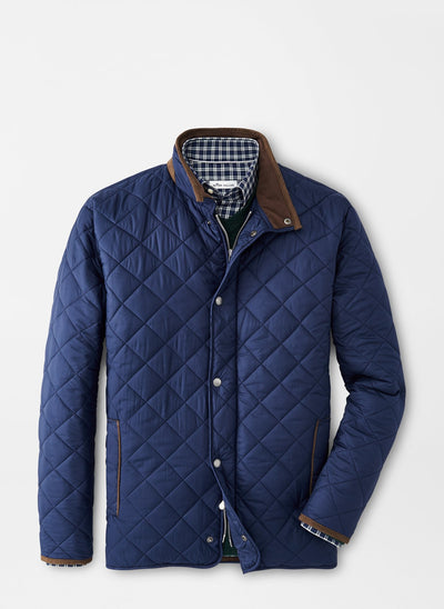 PETER MILLAR Men's Outerwear NAVY / S Peter Millar Suffolk Quilted Travel Coat || David's Clothing MF20Z12N