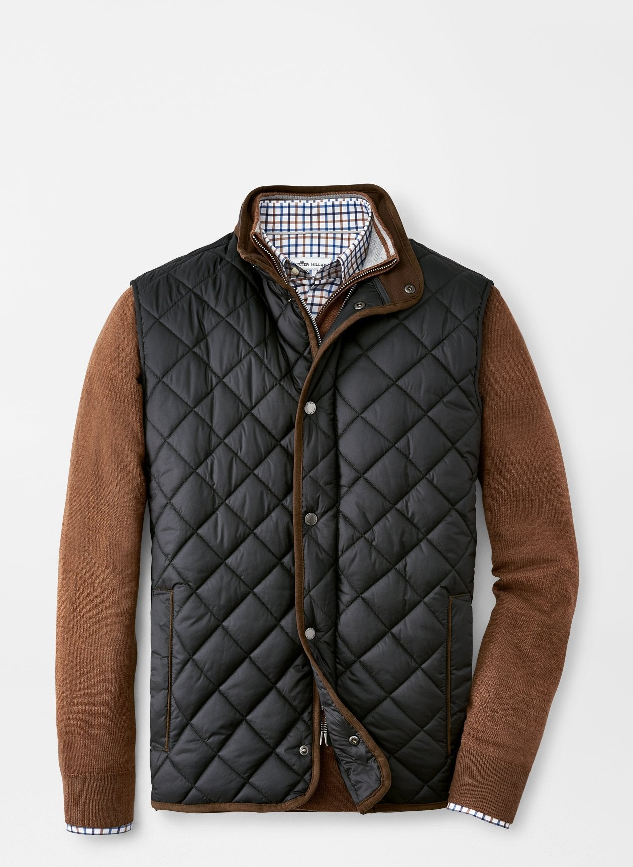PETER MILLAR Men's Outerwear Peter Millar Essex Quilted Travel Vest || David's Clothing