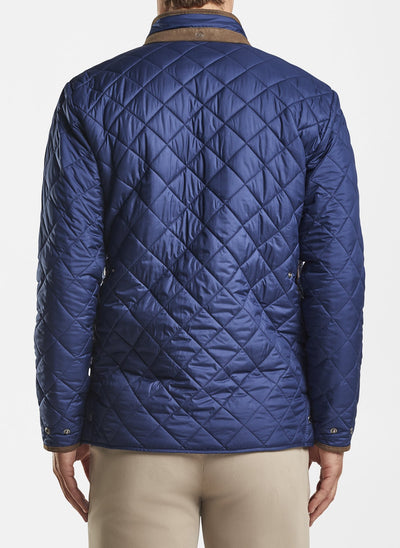 PETER MILLAR Men's Outerwear Peter Millar Suffolk Quilted Travel Coat || David's Clothing