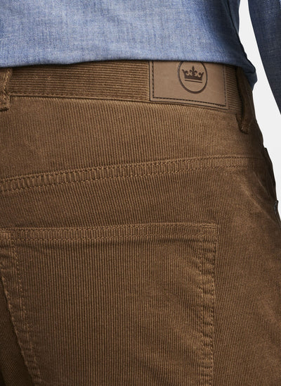 PETER MILLAR Men's Pants Peter Millar Superior Soft Corduroy Five-Pocket Pant- Brown || David's