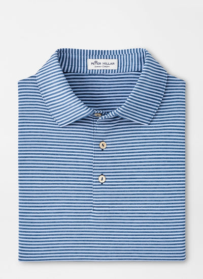 PETER MILLAR Men's Polo COTTAGE BLUE / M Peter Millar Hales Performance Polo || David's Clothing MF20EK03SC