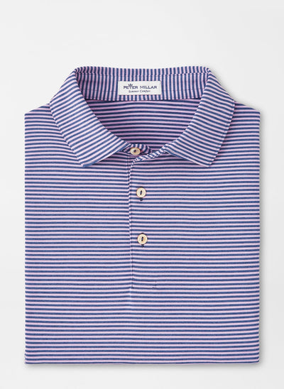 PETER MILLAR Men's Polo POMEGRANATE / S Peter Millar Hales Performance Polo || David's Clothing MF20EK03SP