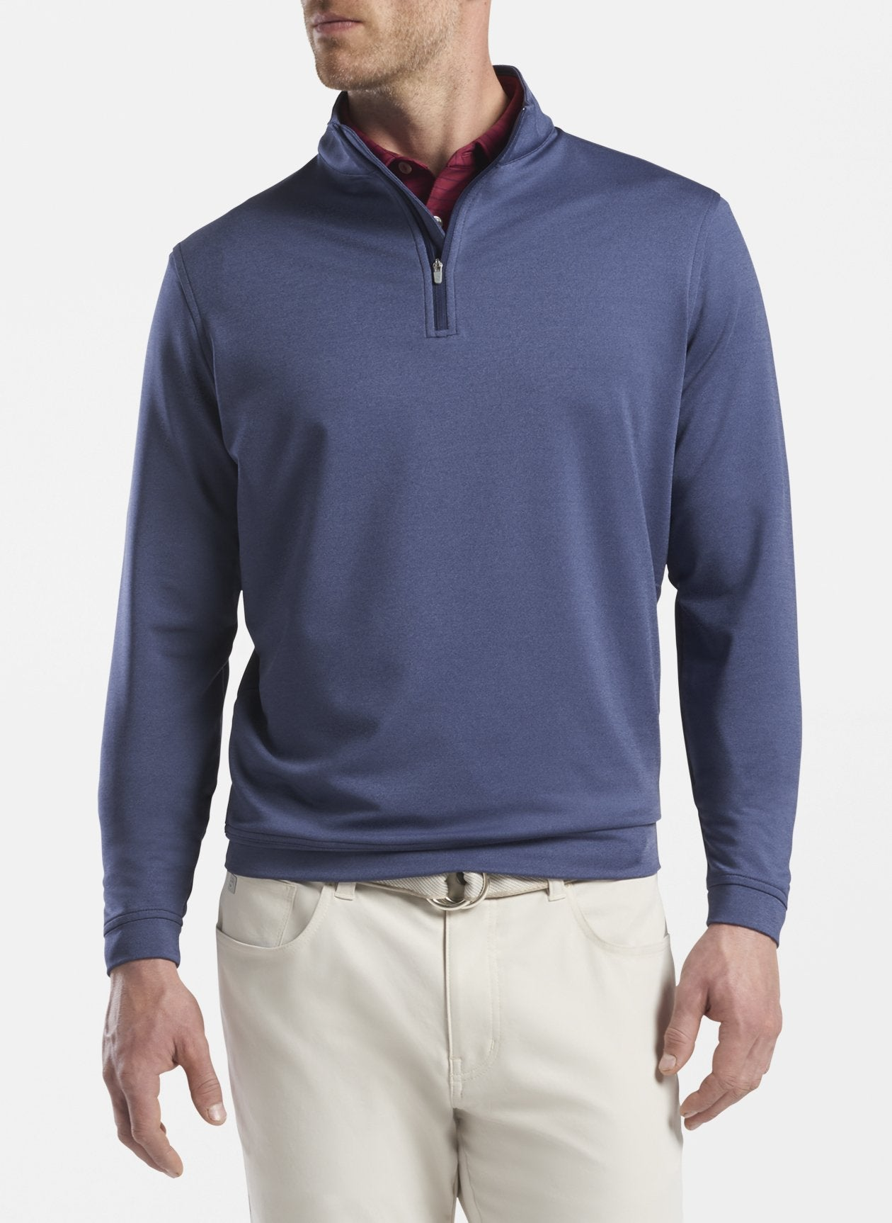 PETER MILLAR Men's Pullover NAVY / M Peter Millar Mélange Perth Performance Quarter-Zip || David's Clothing MF20EK40BN