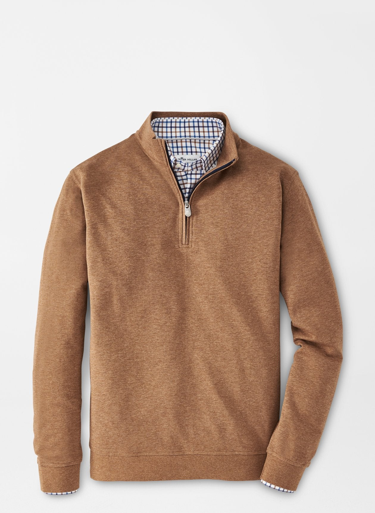 PETER MILLAR Men's Pullover SCOTCH / M Peter Millar Crown Comfort Interlock Quarter-Zip || David's Clothing MF20K40S