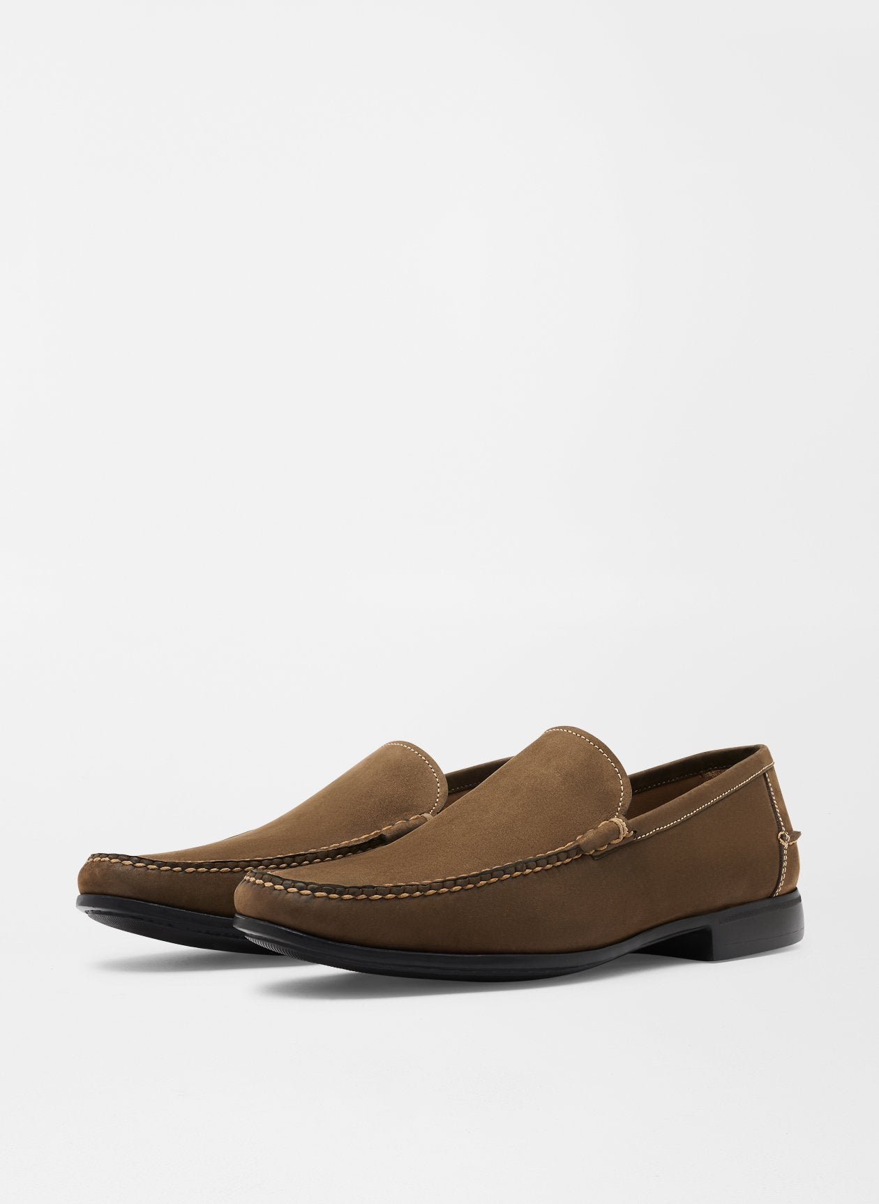 PETER MILLAR Men's Shoes Peter Millar Nubuck Ventian Loafer || David's Clothing