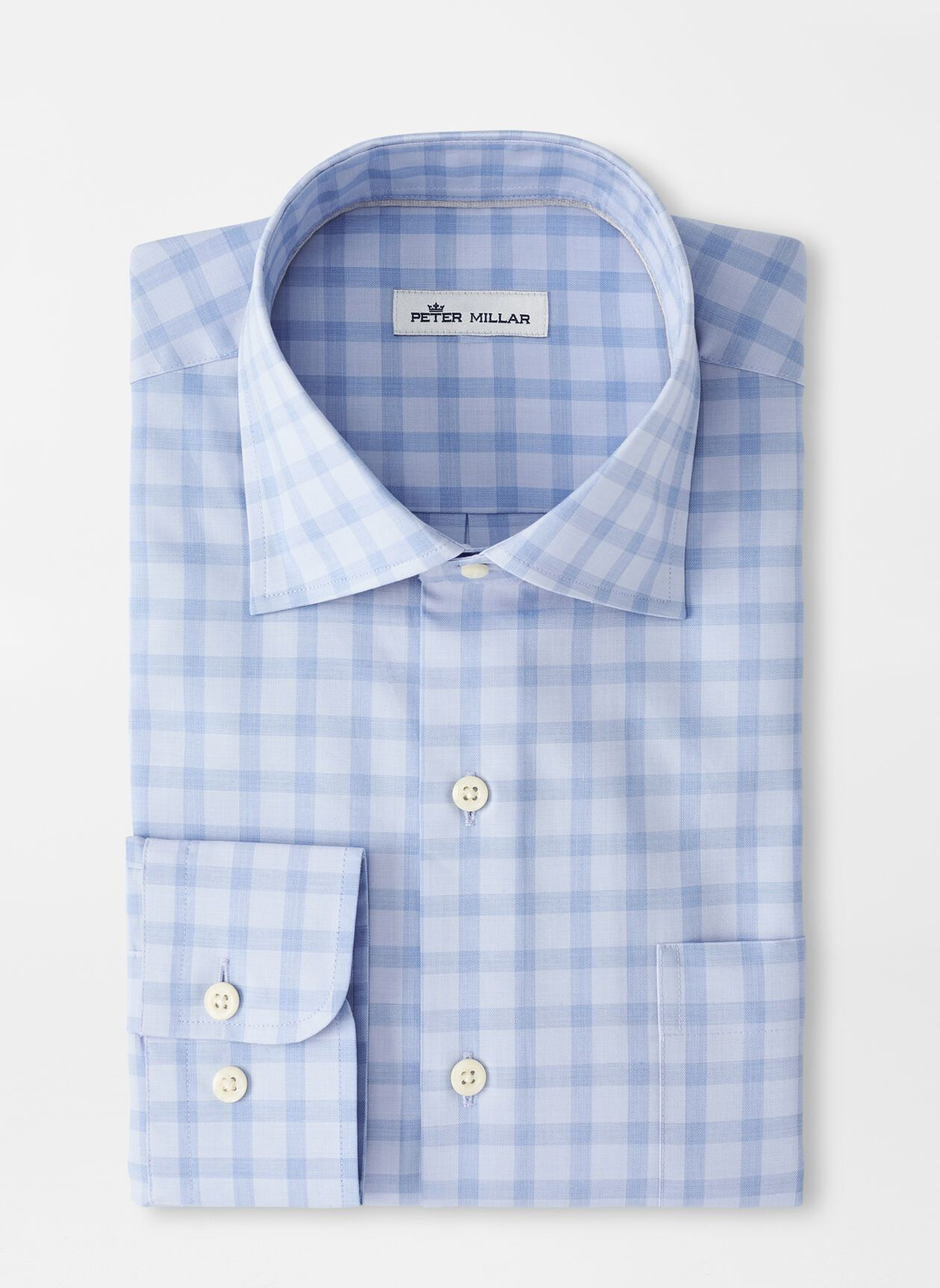 PETER MILLAR Men's Sport Shirt COTTAGE BLUE / S Peter Millar Crown Ease Cooper Sport Shirt || David's Clothing MS21W20CSLC