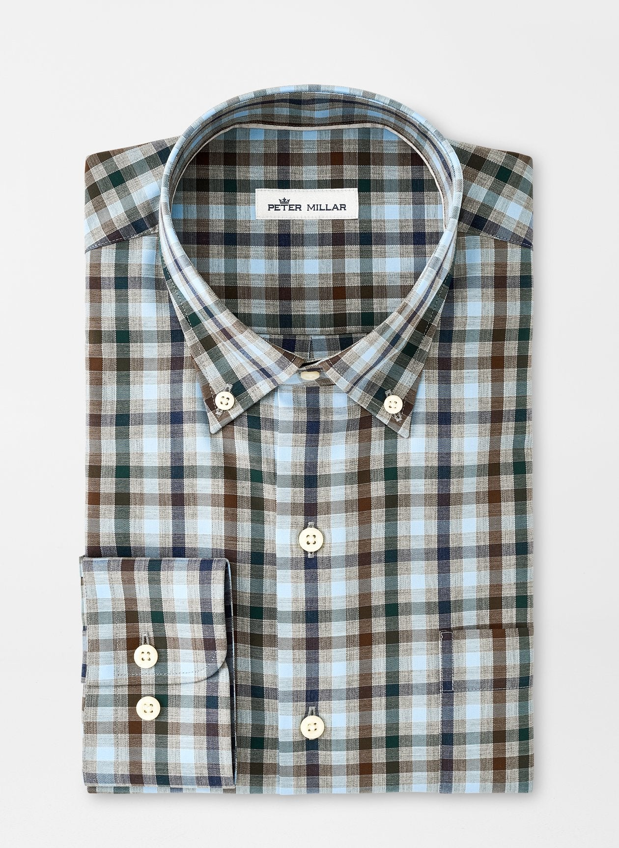 PETER MILLAR Men's Sport Shirt Peter Millar Crown Ease Phillip Sport Shirt || David's Clothing
