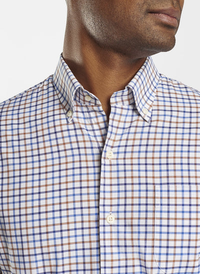 PETER MILLAR Men's Sport Shirt Peter Millar Louis Cotton-Blend Sport Shirt || David's Clothing