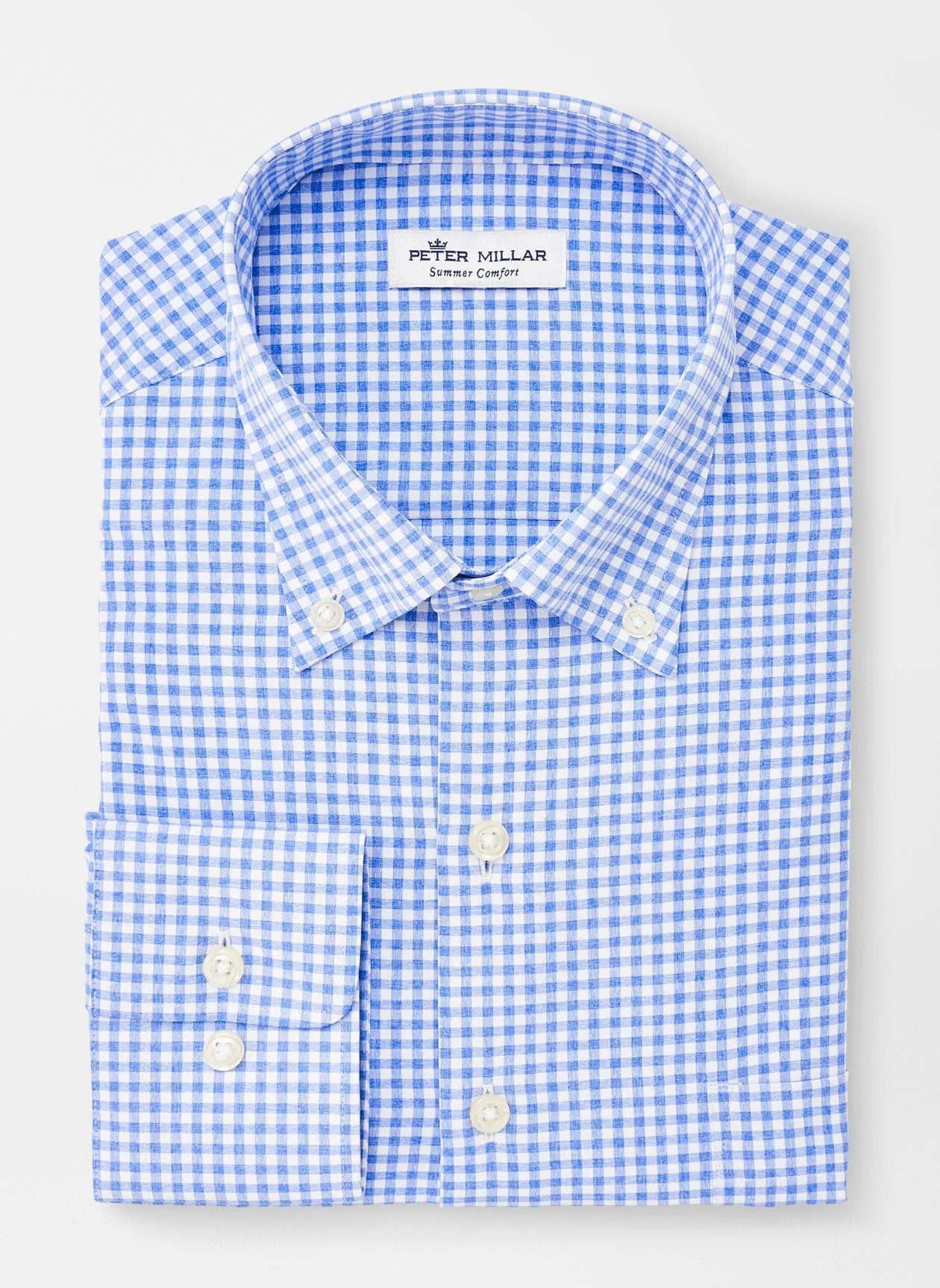 PETER MILLAR Men's Sport Shirt Peter Millar Samuel Natural Touch Sport Shirt || David's Clothing