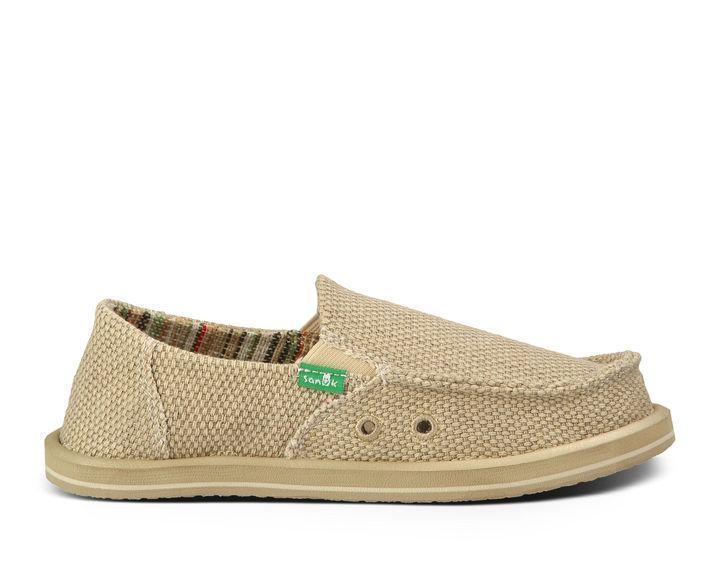 SANUK Kids Shoes Sanuk Youth Boy's Vagabonds - Khaki (Size 1-6) || David's Clothing
