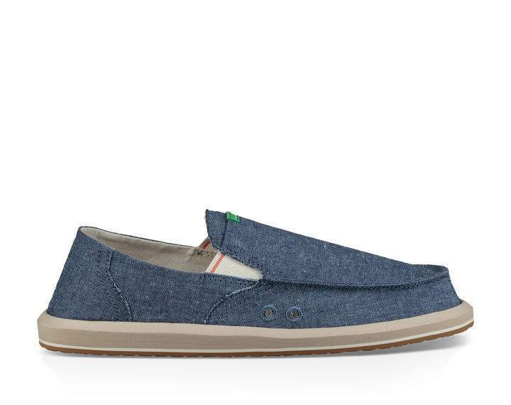 SANUK Men's Shoes Sanuk Men's Sidewalk Surfers Pick Pocket Chambray || David's Clothing