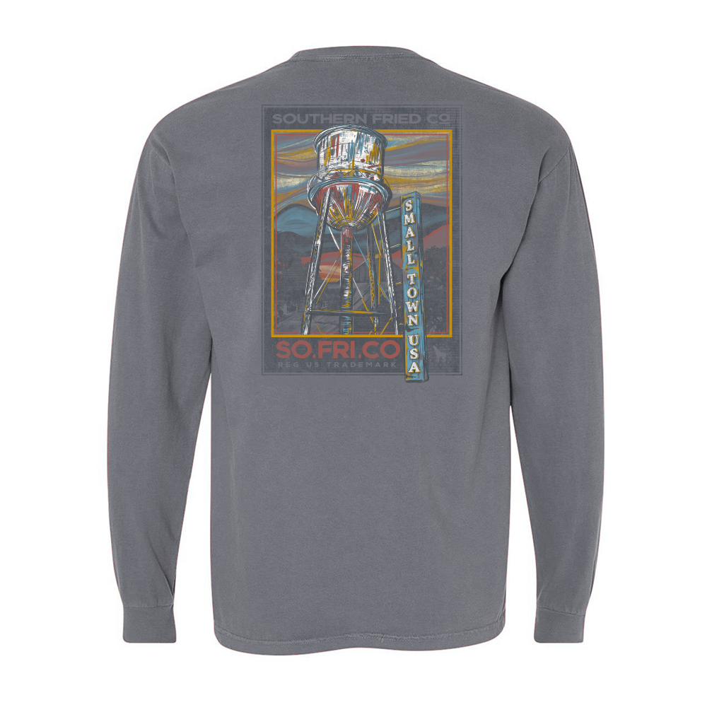 SOUTHERN FRIED COTTON Men's Tees Southern Fred Cotton Small Town USA - Long Sleeve || David's Clothing