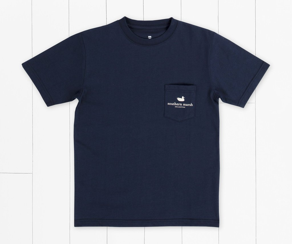 SOUTHERN MARSH COLLECTION Kid's Tees Southern Marsh Youth Branding Crest Tee - Navy || David's Clothing