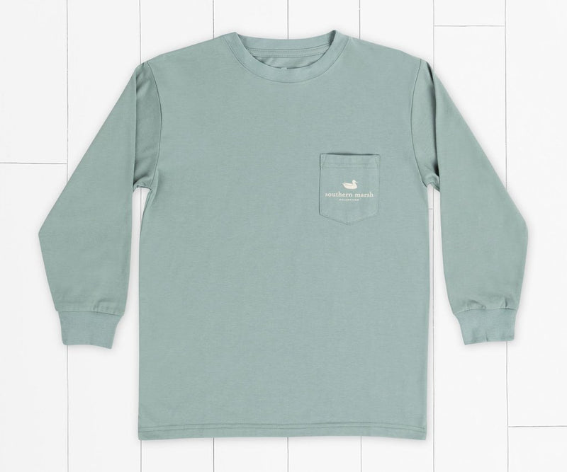 SOUTHERN MARSH COLLECTION Kid's Tees Southern Marsh Youth Mountain Pass Tee - Long Sleeve || David's Clothing