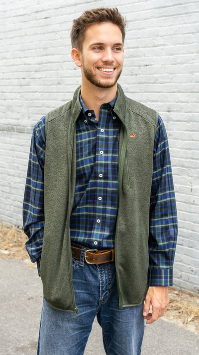SOUTHERN MARSH COLLECTION Men's Outerwear DARK OLIVE / M Southern Marsh FieldTec Bozeman Vest || David's Clothing OBZVDLV