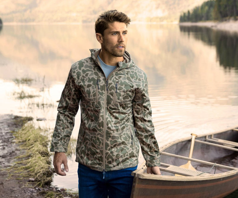 SOUTHERN MARSH COLLECTION Men's Outerwear Southern Marsh DownpourDRY Flat Lake Jacket || David's Clothing
