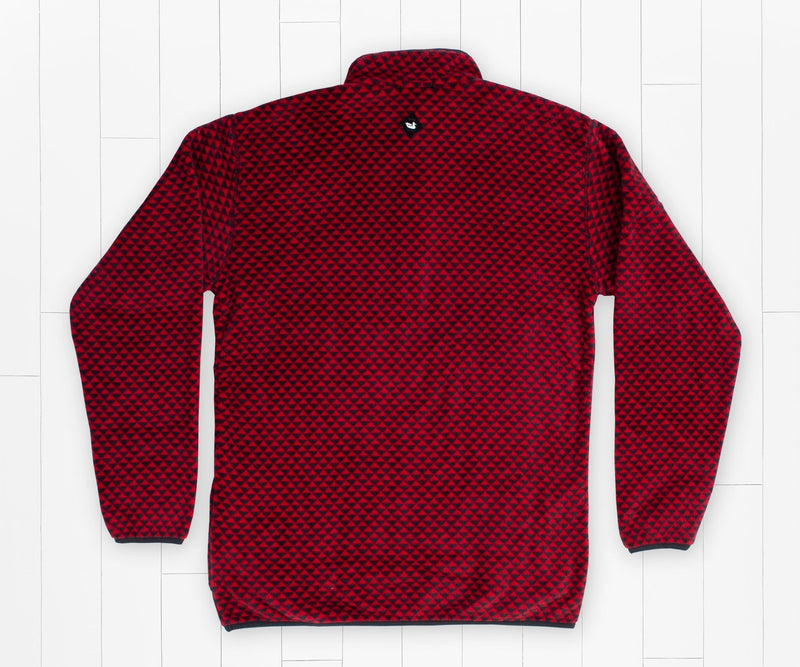 SOUTHERN MARSH COLLECTION Men's Pullover RED BLACK / M Southern Marsh Arapaho Fleece Pullover || David's Clothing OARPRDBK