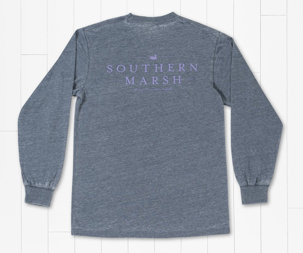 SOUTHERN MARSH COLLECTION Men's Tees SLATE / M Southern Marsh Seawash Classic Long Sleeve Tee || David's Clothing TSLOSLT