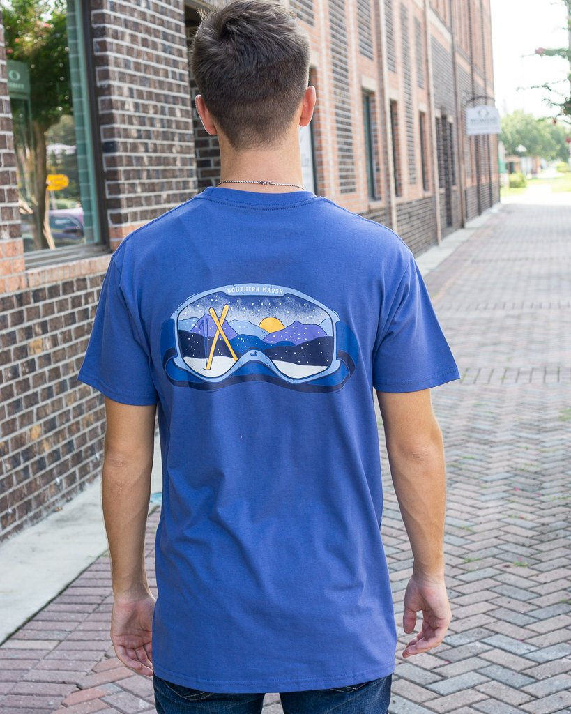 SOUTHERN MARSH COLLECTION Men's Tees Southern Marsh Altitude Goggles SS Tee || David's Clothing