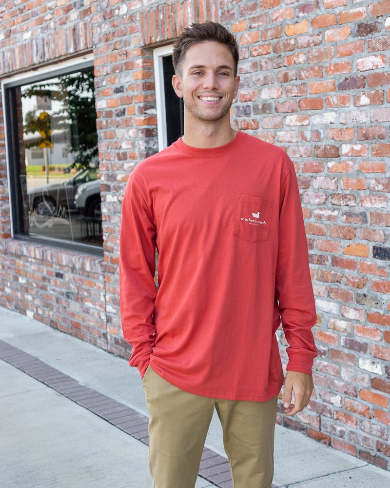 SOUTHERN MARSH COLLECTION Men's Tees Southern Marsh Altitude Tee LS Tent Tee || David's Clothing