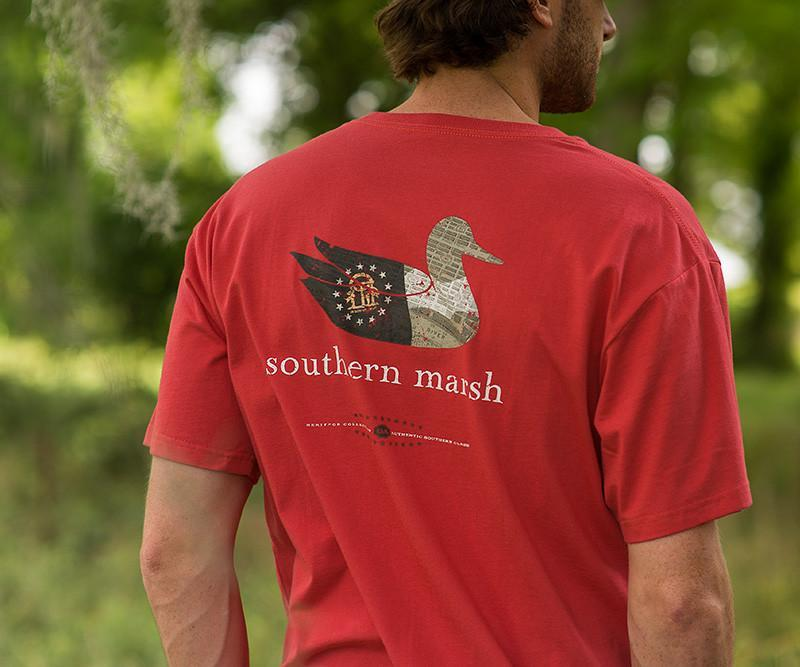 SOUTHERN MARSH COLLECTION Men's Tees Southern Marsh Authentic Heritage Tee - Georgia || David's Clothing