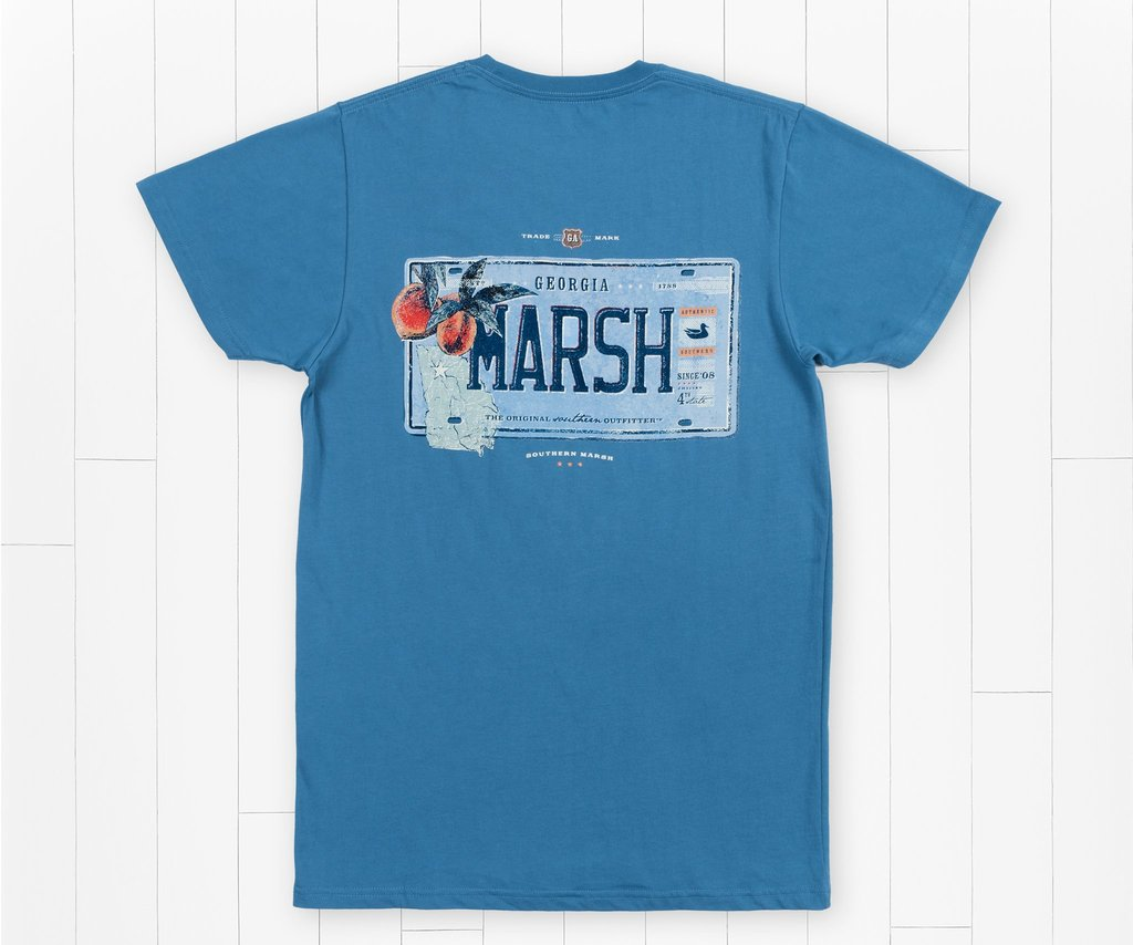 SOUTHERN MARSH COLLECTION Men's Tees Southern Marsh Backroads Collection Tee - Georgia || David's Clothing