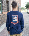 SOUTHERN MARSH COLLECTION Men's Tees Southern Marsh Branding Collection LS Crest Tee || David's Clothing