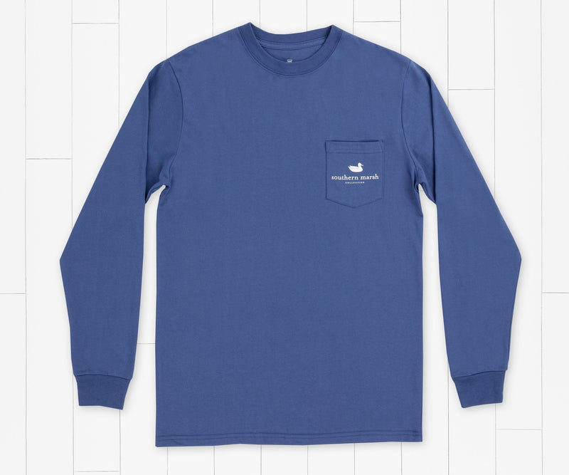 SOUTHERN MARSH COLLECTION Men's Tees Southern Marsh Share Altitude Goggles Long Sleeve Tee || David's Clothing