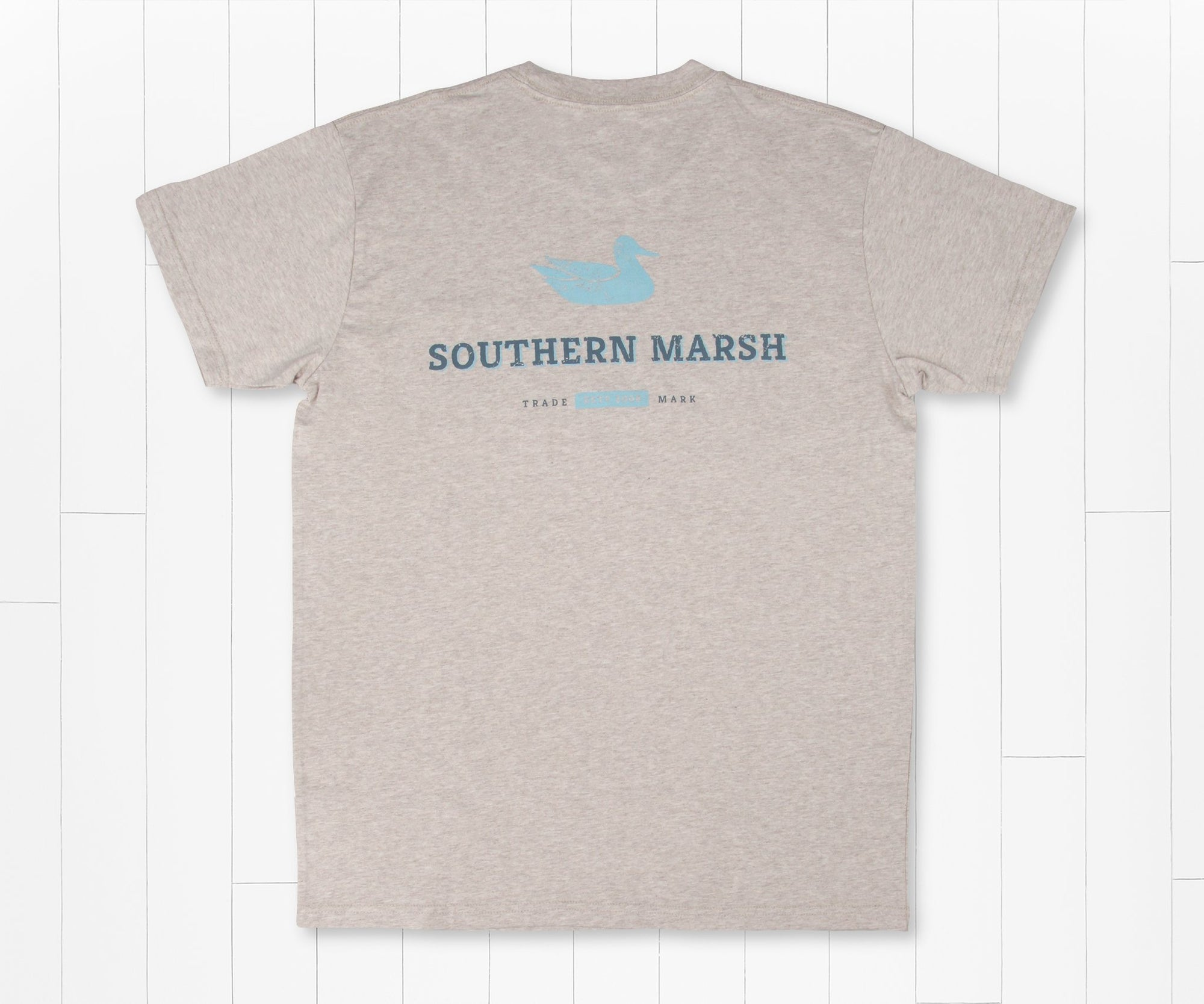 SOUTHERN MARSH COLLECTION Men's Tees WASHED OATMEAL / S Southern Marsh Trademark Duck Tee || David's Clothing ADTMWOT