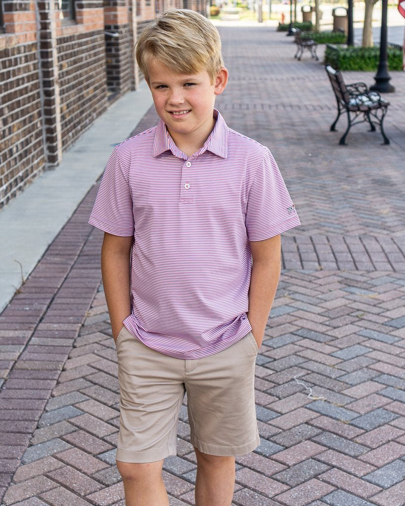 Southern Point Co. Kid's Tops Southern Point Boys Performance Polo || David's Clothing