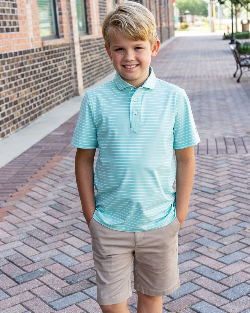 Southern Point Co. Men's Polo Southern Point Youth Wave Performance Polo || David's Clothing
