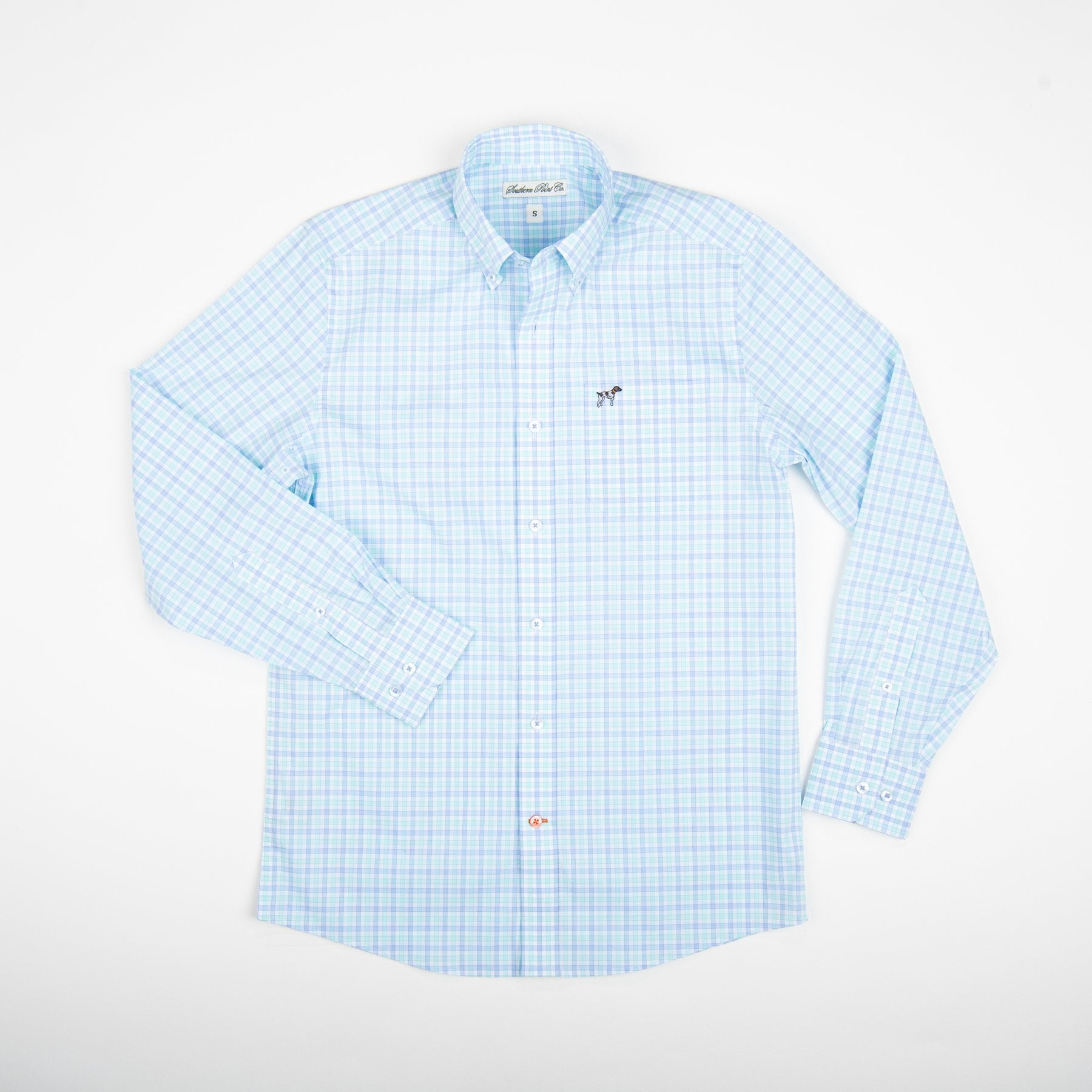 Southern Point Co. Men's Sport Shirt AQUA / S Southern Point Hadley Summerweight || David's Clothing HS10