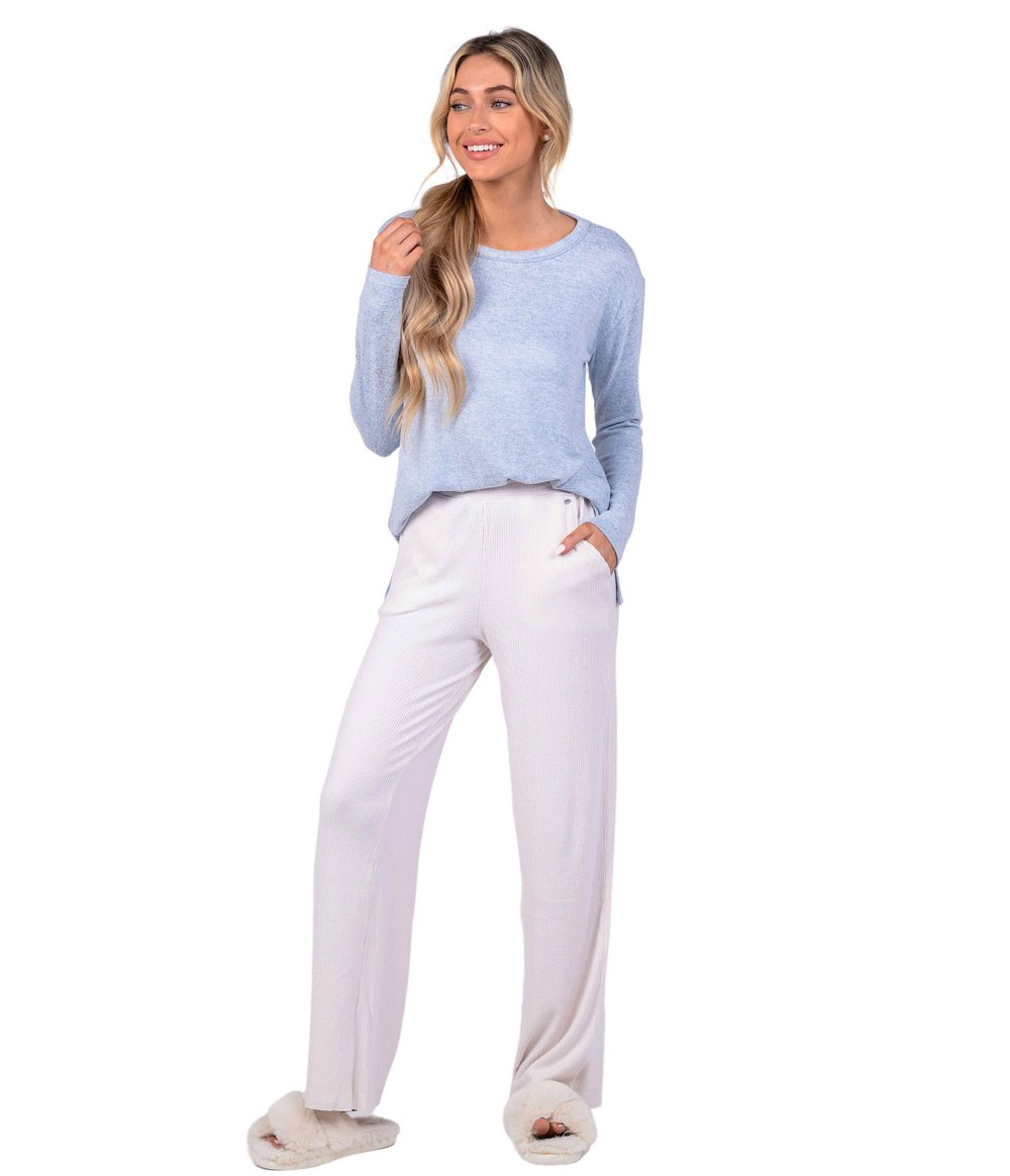 SOUTHERN SHIRT CO. Women's Pants Southern Shirt Pj Party Pants - Natural || David's Clothing