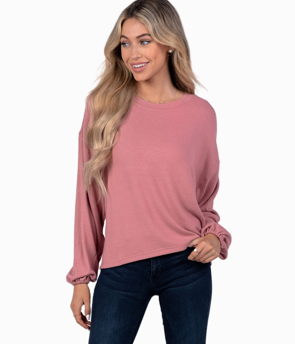 SOUTHERN SHIRT CO. Women's Sweater Southern Shirt Brushed Bella Pullover || David's Clothing