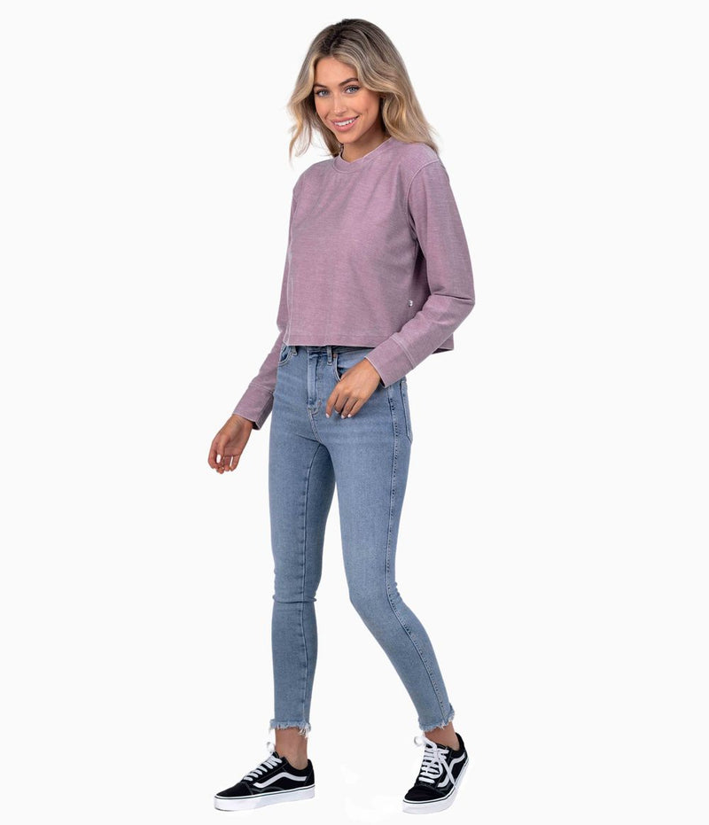 SOUTHERN SHIRT CO. Women's Sweater DUSKY ORCHID / XS Southern Shirt In The Loop Tee || David's Clothing 2J049